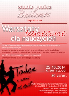 Warsztaty taneczne dla nauczycieli Bydgoszcz Bailamos